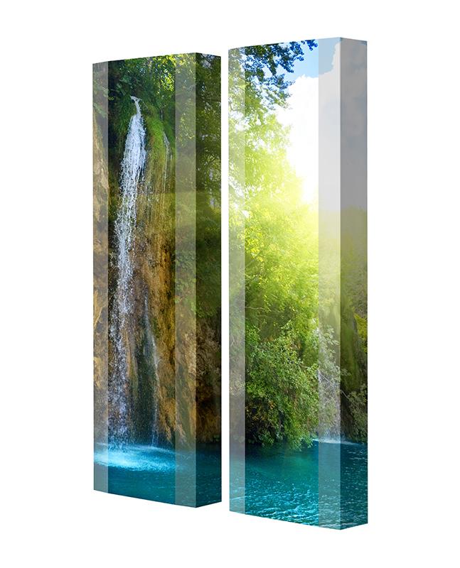 Schuhschrank FLASH Motivschrank Duo FD05 Wasserfall weiß 2er Set