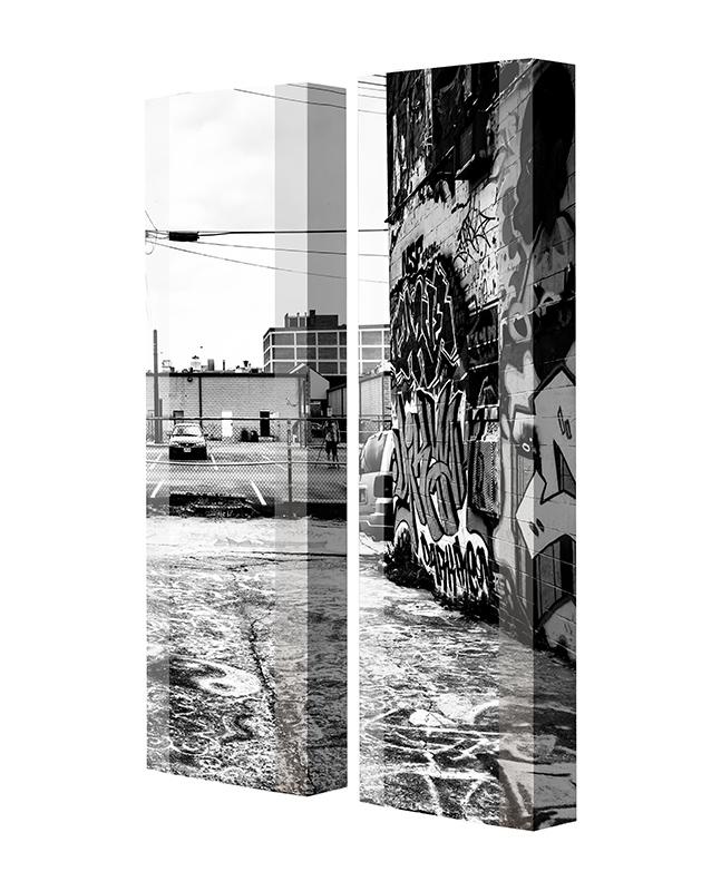 Schuhschrank FLASH Motivschrank Duo FD121 Graffiti weiß 2er Set