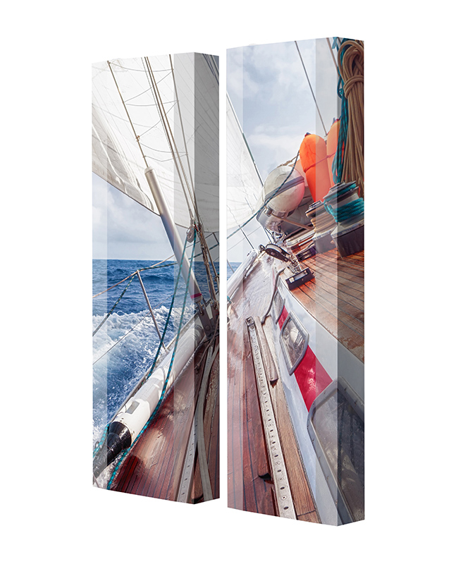 Schuhschrank FLASH Motivschrank Duo FD142 Segelboot weiß 2er Set