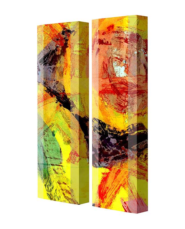 Schuhschrank FLASH Motivschrank Duo FD14 Abstrakt weiß 2er Set