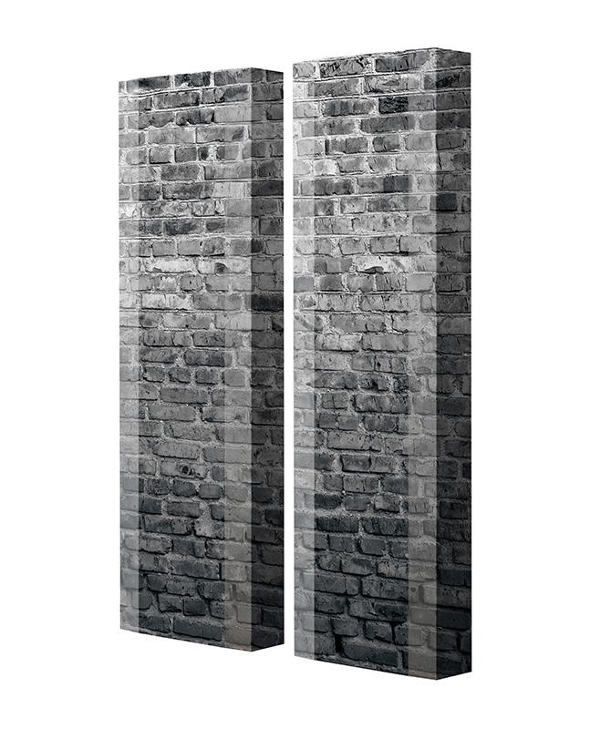 Schuhschrank FLASH Motivschrank Duo FD241 Häuserwand weiß 2er Set