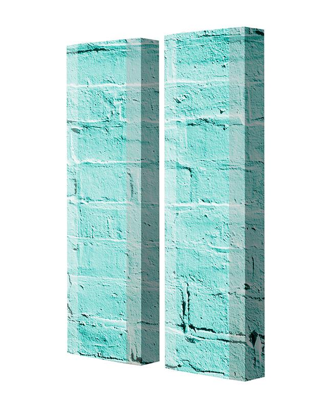 Schuhschrank FLASH Motivschrank Duo FD248 Häuserwand weiß 2er Set
