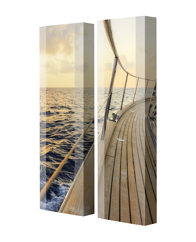 Schuhschrank FLASH Motivschrank Duo FD46 Segelboot weiß 2er Set