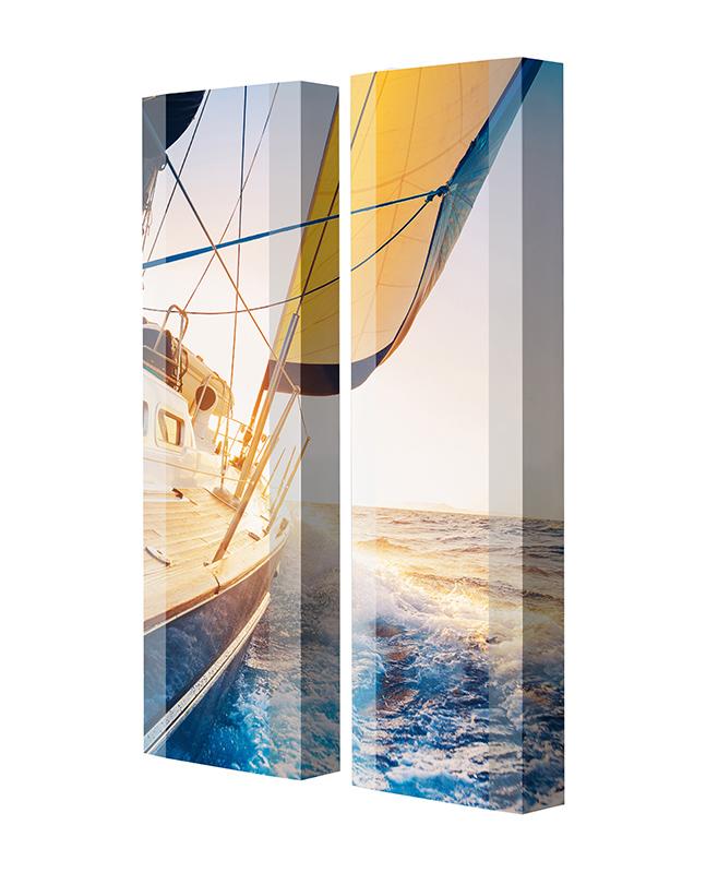 Schuhschrank FLASH Motivschrank Duo FD51 Segelboot weiß 2er Set