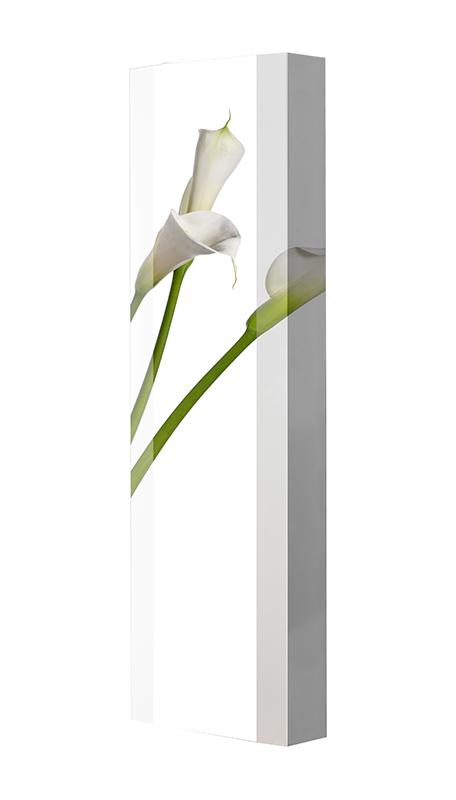 Schuhschrank FLASH Motivschrank Single F02 Blume weiß