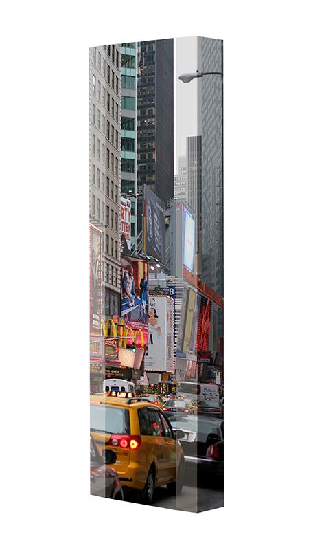 Schuhschrank FLASH Motivschrank Single F05 New York weiß