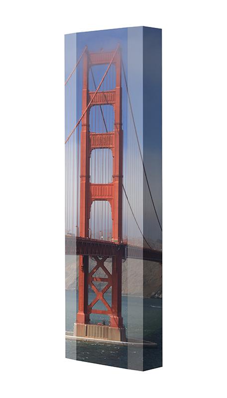 Schuhschrank FLASH Motivschrank Single F10 Golden Gate weiß