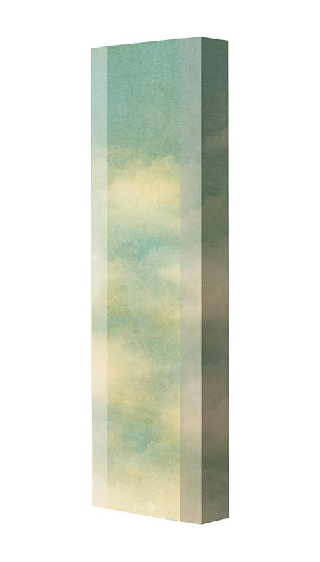 Schuhschrank FLASH Motivschrank Single F115 Wolken weiß