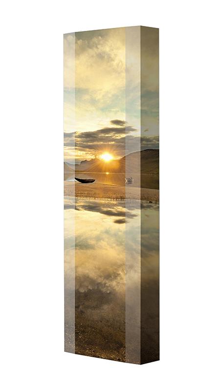 Schuhschrank FLASH Motivschrank Single F123 Sonnenuntergang weiß