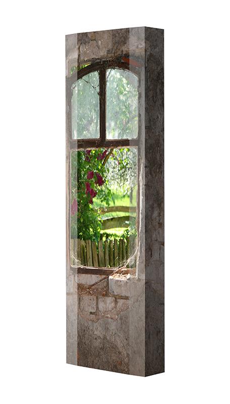 Schuhschrank FLASH Motivschrank Single F12 Fenster weiß