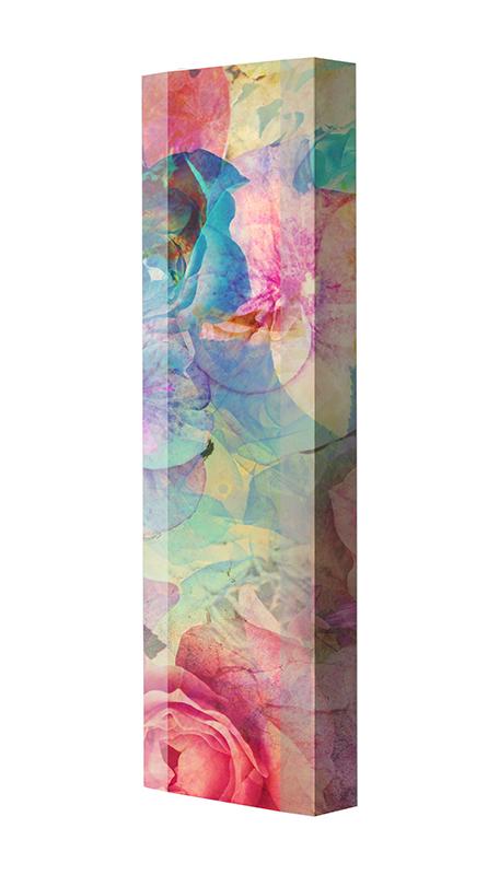 Schuhschrank FLASH Motivschrank Single F131 Blumen weiß