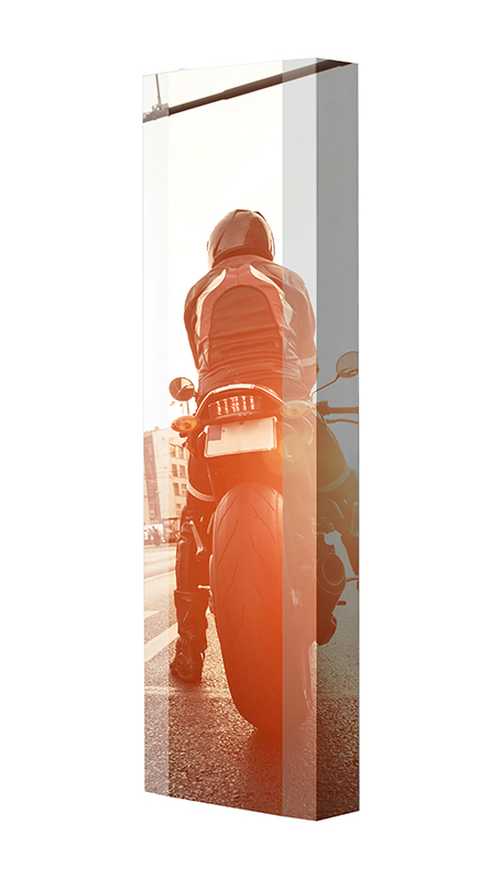 Schuhschrank FLASH Motivschrank Single F133 Motorrad weiß