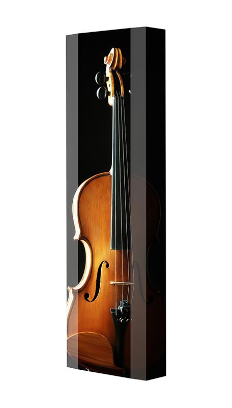 Schuhschrank FLASH Motivschrank Single F135 Cello weiß