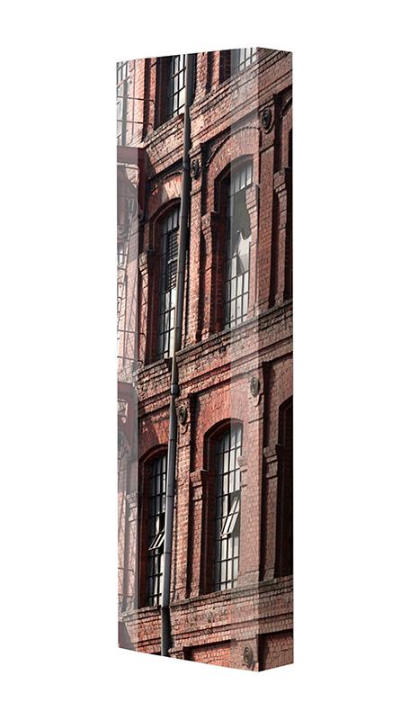 Schuhschrank FLASH Motivschrank Single F139 Häuserwand weiß