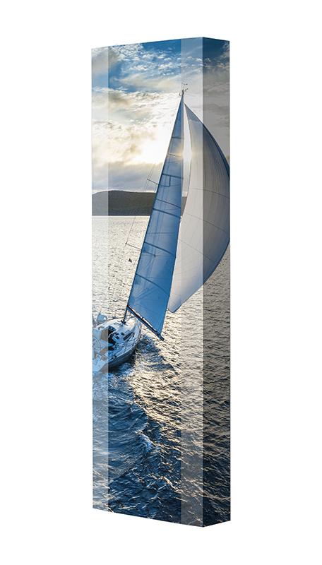 Schuhschrank FLASH Motivschrank Single F179 Segelboot weiß