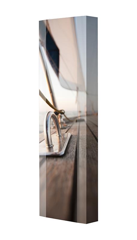 Schuhschrank FLASH Motivschrank Single F20 Segelboot weiß