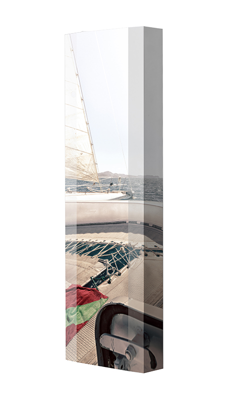Schuhschrank FLASH Motivschrank Single F259 Segelboot weiß