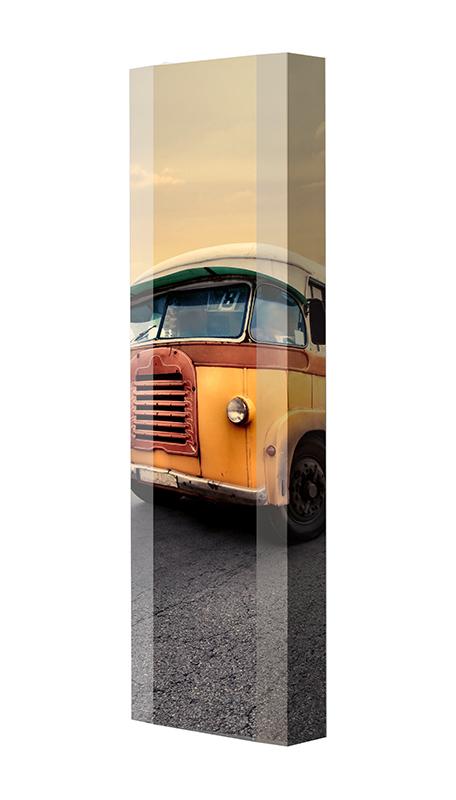 Schuhschrank FLASH Motivschrank Single F46 Bus weiß