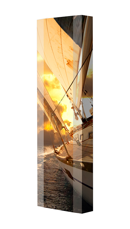 Schuhschrank FLASH Motivschrank Single F72 Segelboot weiß