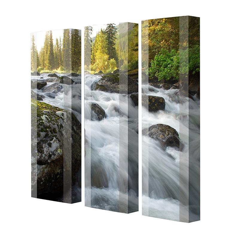 Schuhschrank FLASH Motivschrank Trio FT02 Wasserfall weiß 3er Set