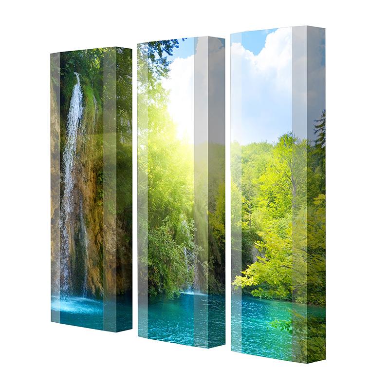 Schuhschrank FLASH Motivschrank Trio FT03 Wasserfall weiß 3er Set