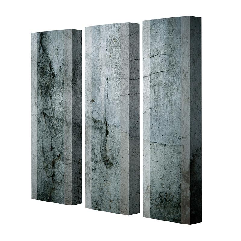 Schuhschrank FLASH Motivschrank Trio FT04 Beton weiß 3er Set
