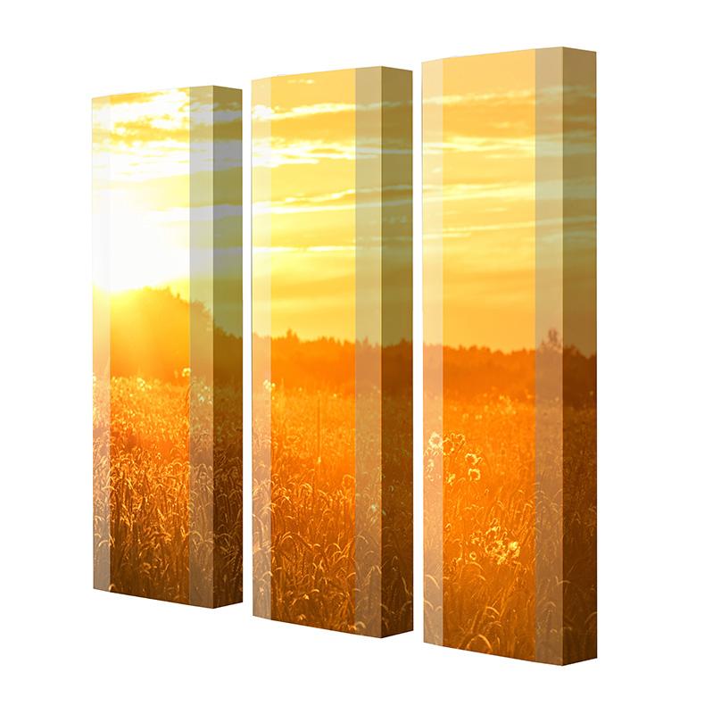Schuhschrank FLASH Motivschrank Trio FT101 Sonnenuntergang weiß 3er Set