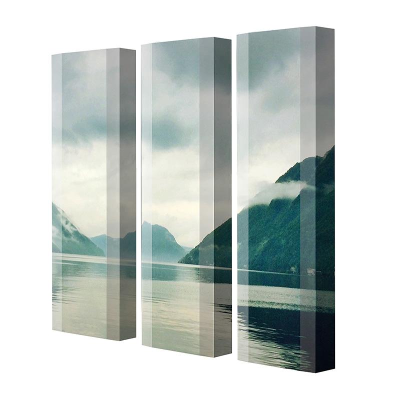 Schuhschrank FLASH Motivschrank Trio FT106 Fjord weiß 3er Set