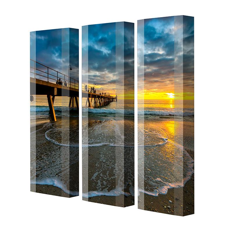 Schuhschrank FLASH Motivschrank Trio FT107 Sonnenuntergang weiß 3er Set