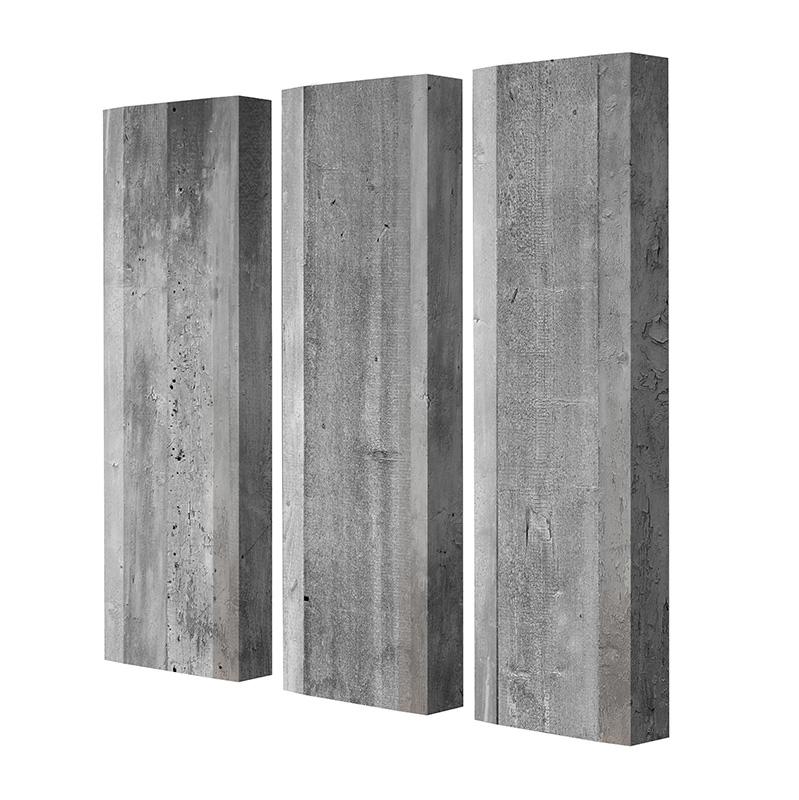 Schuhschrank FLASH Motivschrank Trio FT115 Beton weiß 3er Set