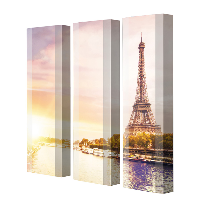 Schuhschrank FLASH Motivschrank Trio FT117 Paris Eifelturm weiß 3er Set