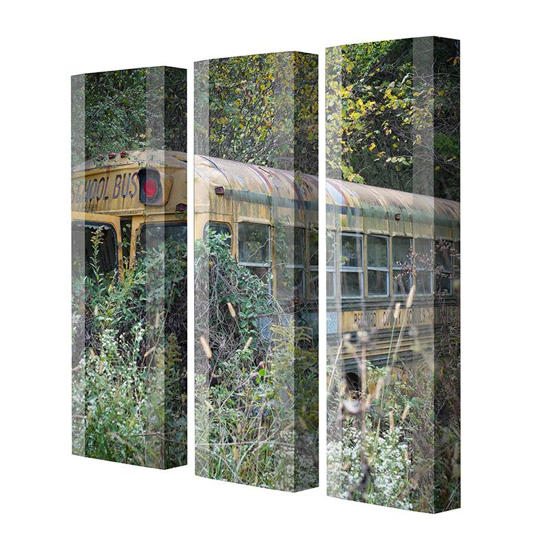 Schuhschrank FLASH Motivschrank Trio FT123 School Bus weiß 3er Set