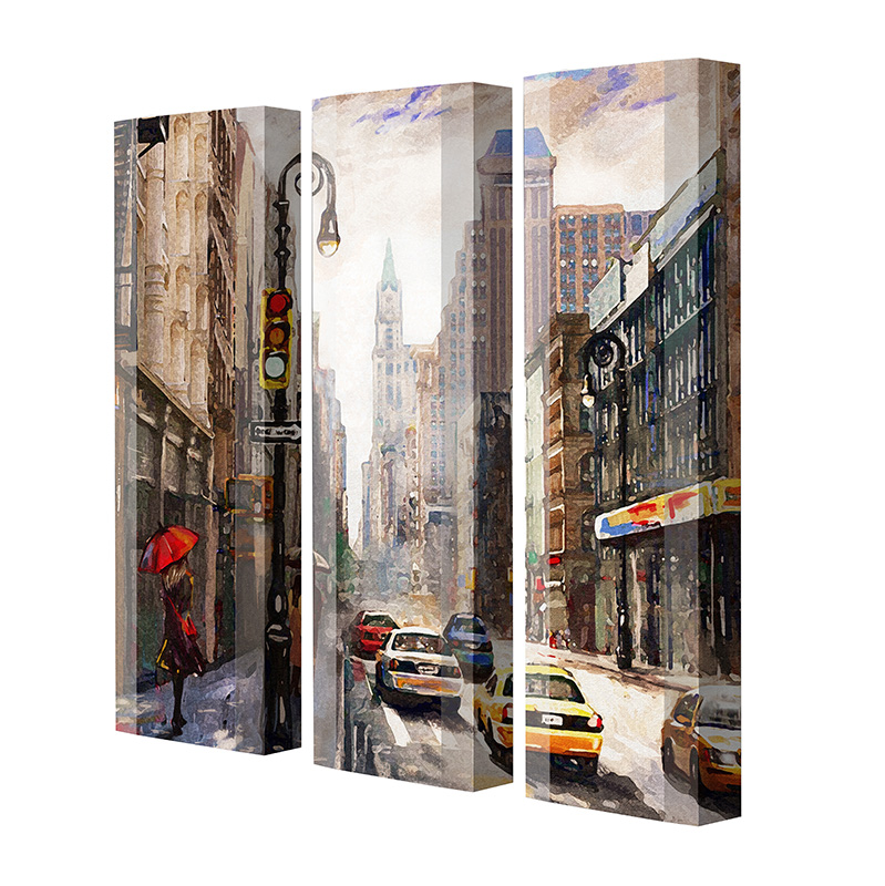 Schuhschrank FLASH Motivschrank Trio FT127 New York weiß 3er Set