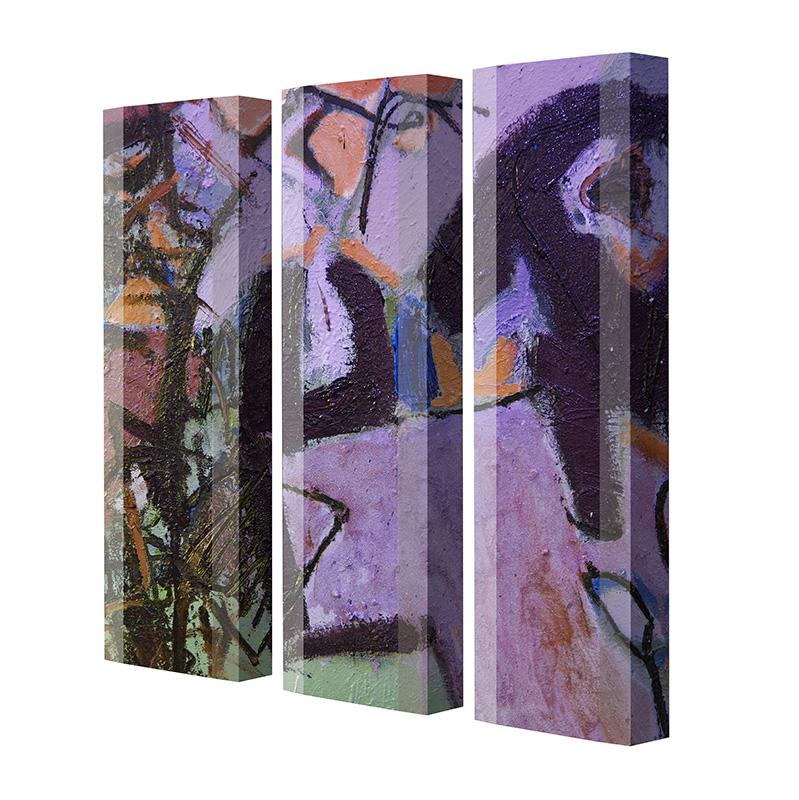 Schuhschrank FLASH Motivschrank Trio FT130 Graffiti weiß 3er Set