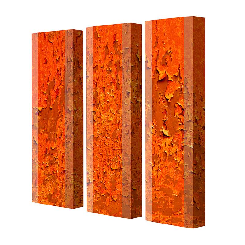 Schuhschrank FLASH Motivschrank Trio FT131 Rost weiß 3er Set