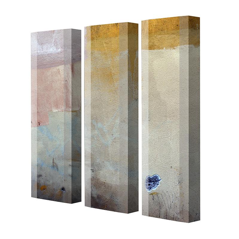 Schuhschrank FLASH Motivschrank Trio FT140 Abstrakt weiß 3er Set