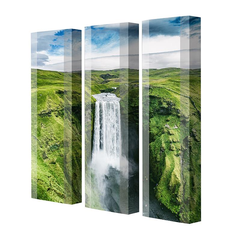 Schuhschrank FLASH Motivschrank Trio FT141 Wasserfall weiß 3er Set