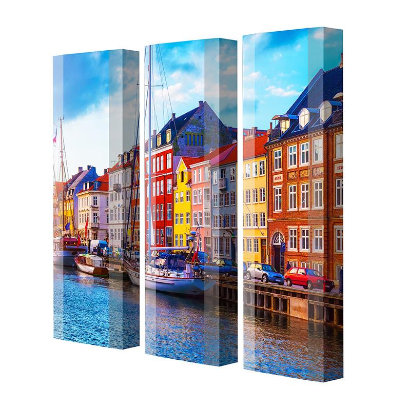 Schuhschrank FLASH Motivschrank Trio FT144 Altstadt weiß 3er Set