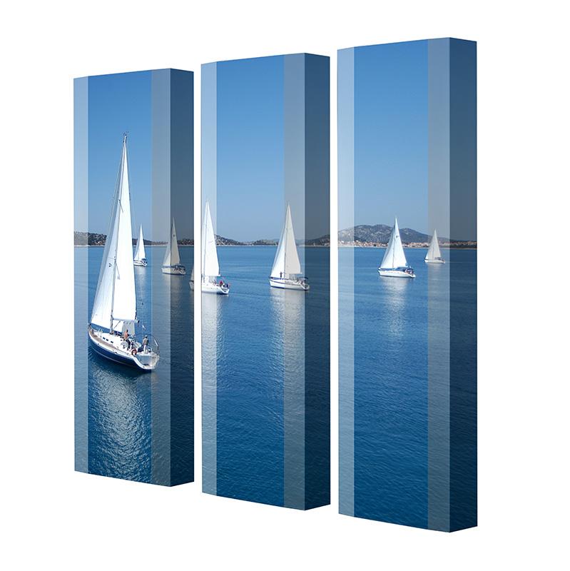 Schuhschrank FLASH Motivschrank Trio FT39 Segelboot weiß 3er Set