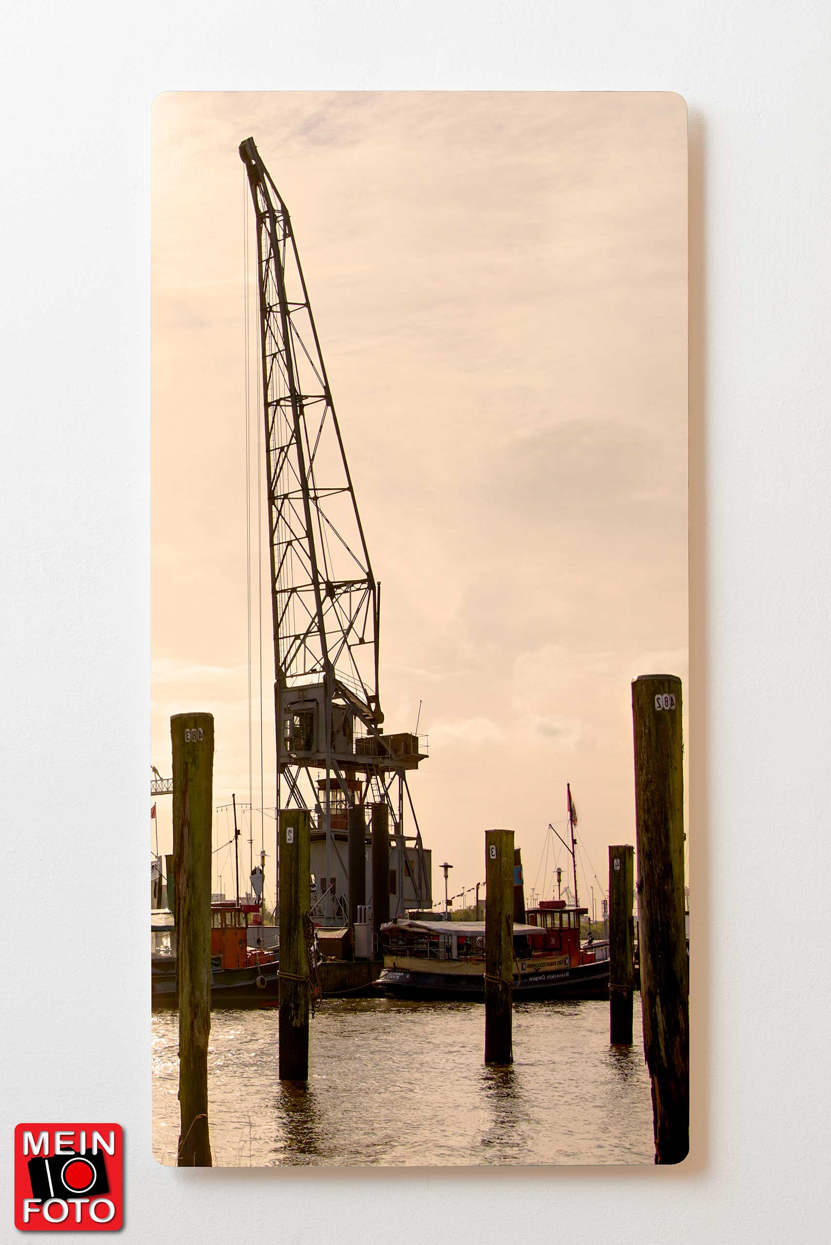"Wandbild Magnettafel BACKLIGHT 60x120 ""Mein Foto"""