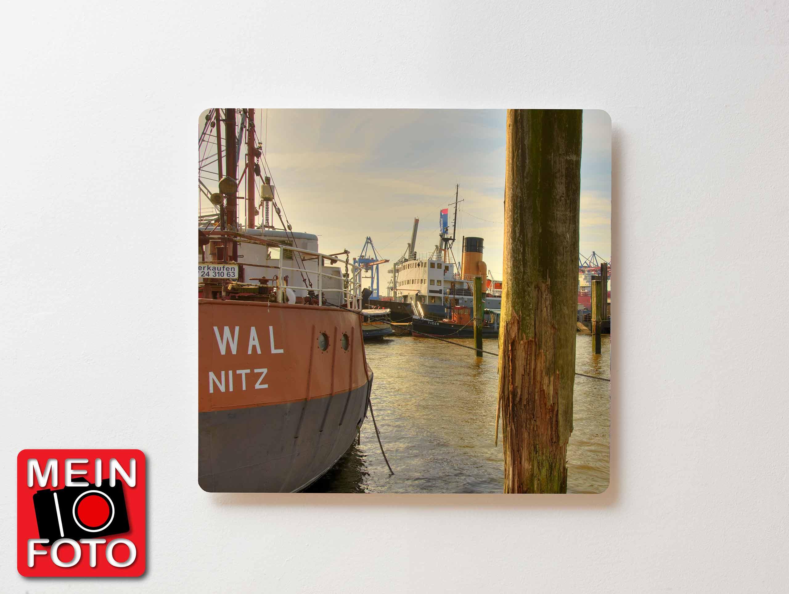 "Wandbild Magnettafel BACKLIGHT 80x80 ""Mein Foto"""