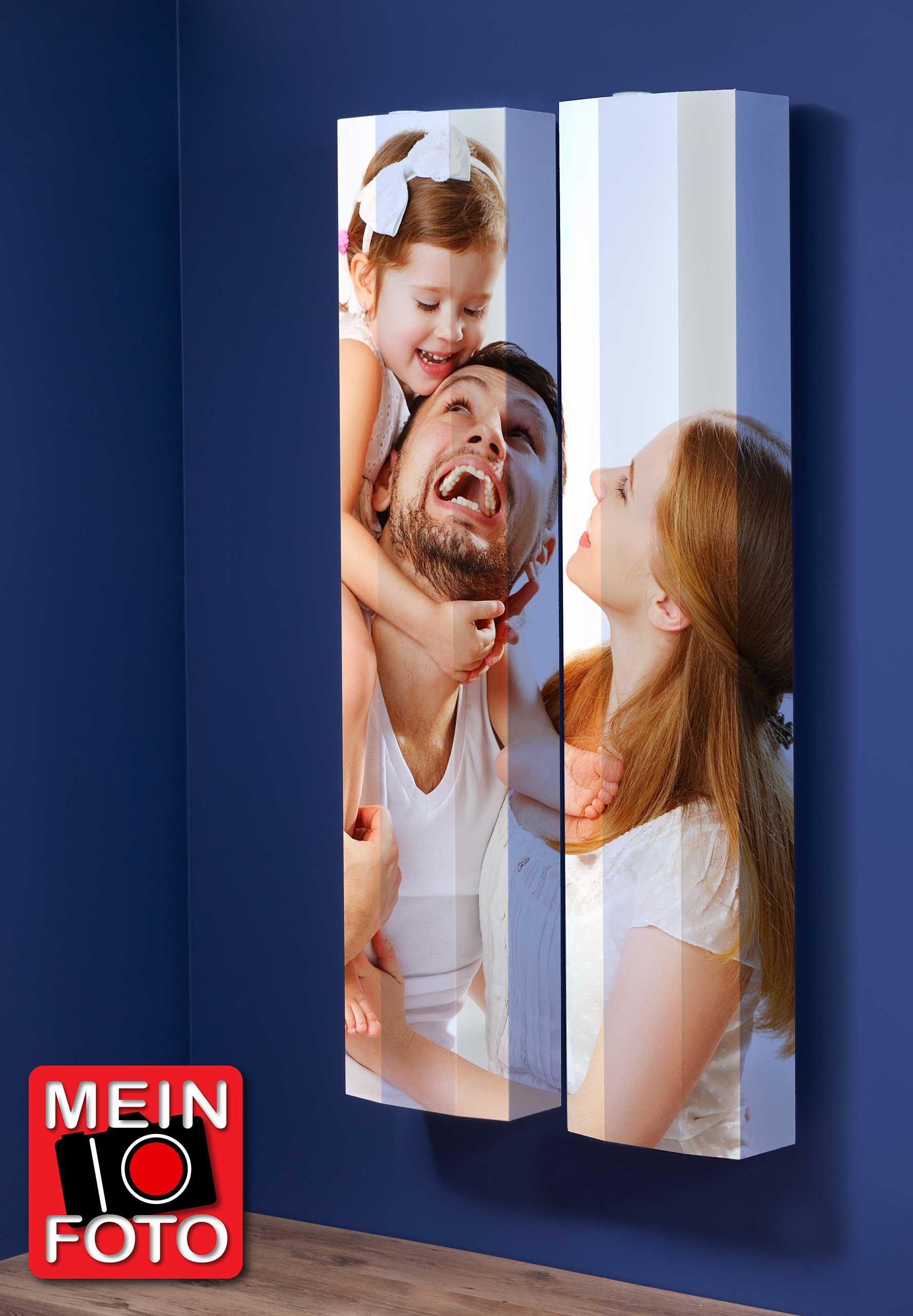 """Schuhschrank FLASH 290 Motivschrank Duo """"Mein Foto"""" weiß 2er Set"""