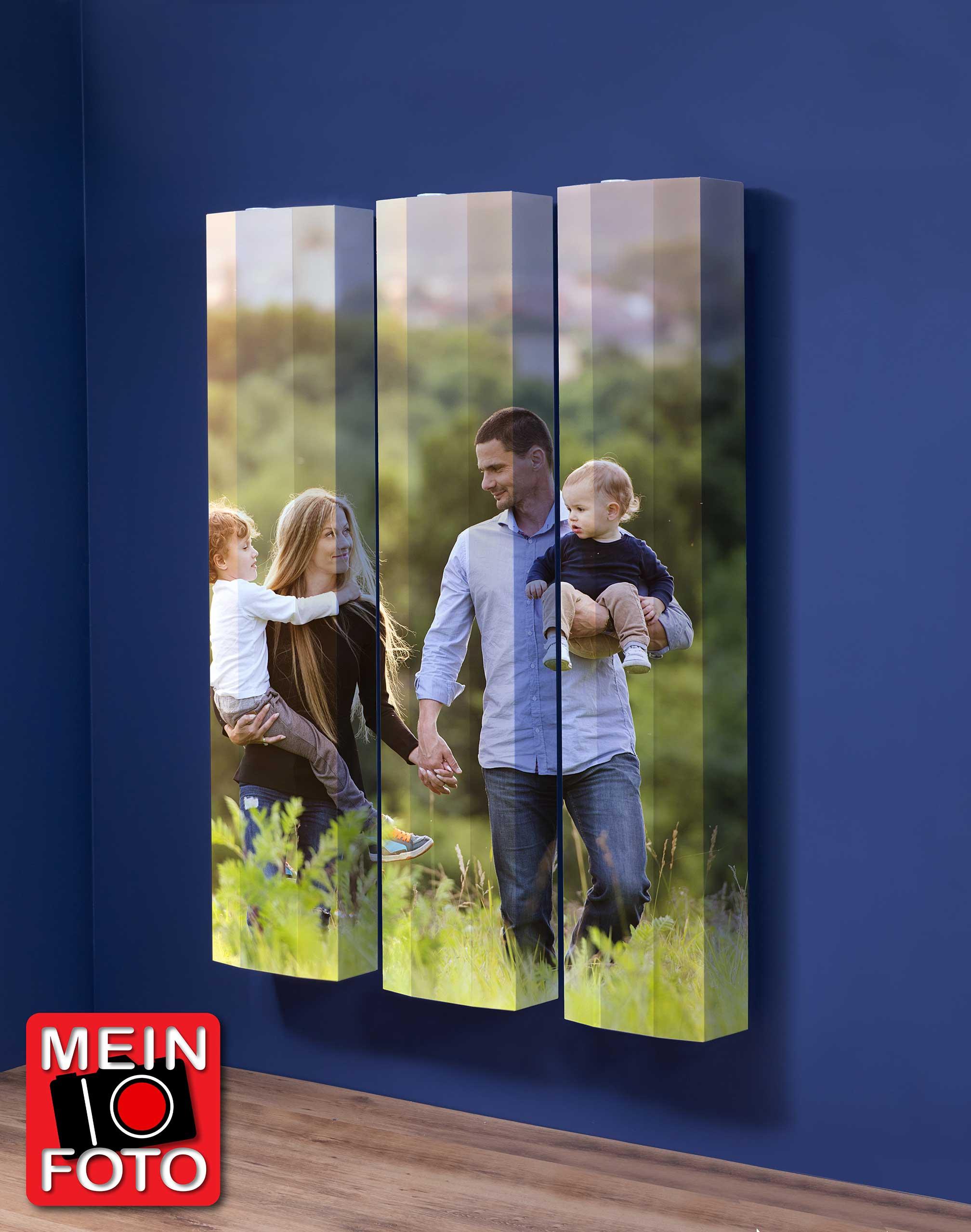 """Schuhschrank FLASH 290 Motivschrank Trio """"Mein Foto"""" weiß 3er Set"""