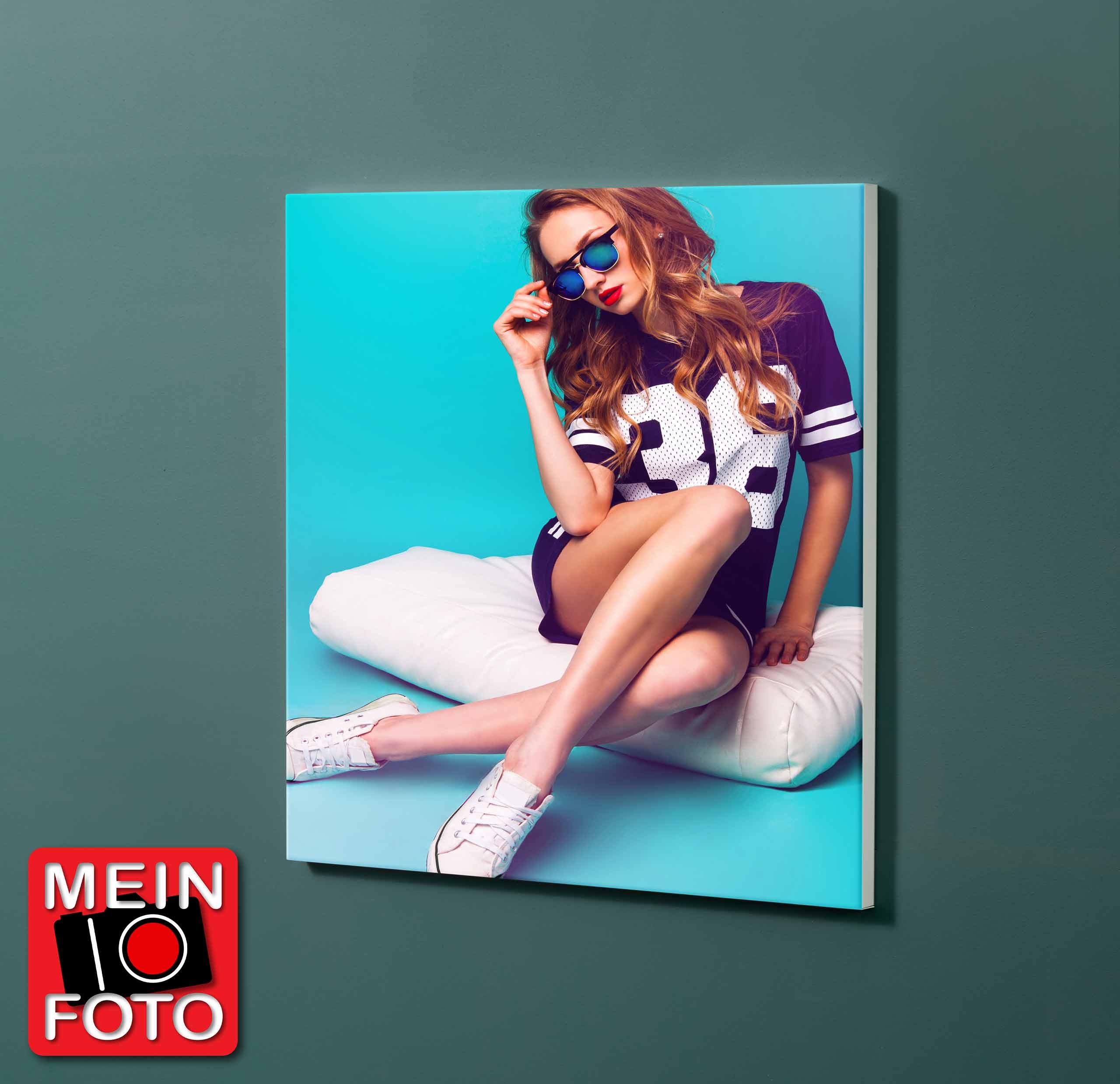 "Magnettafel NOTIZ 60x60cm Motiv-Pinnwand ""Mein Foto"""