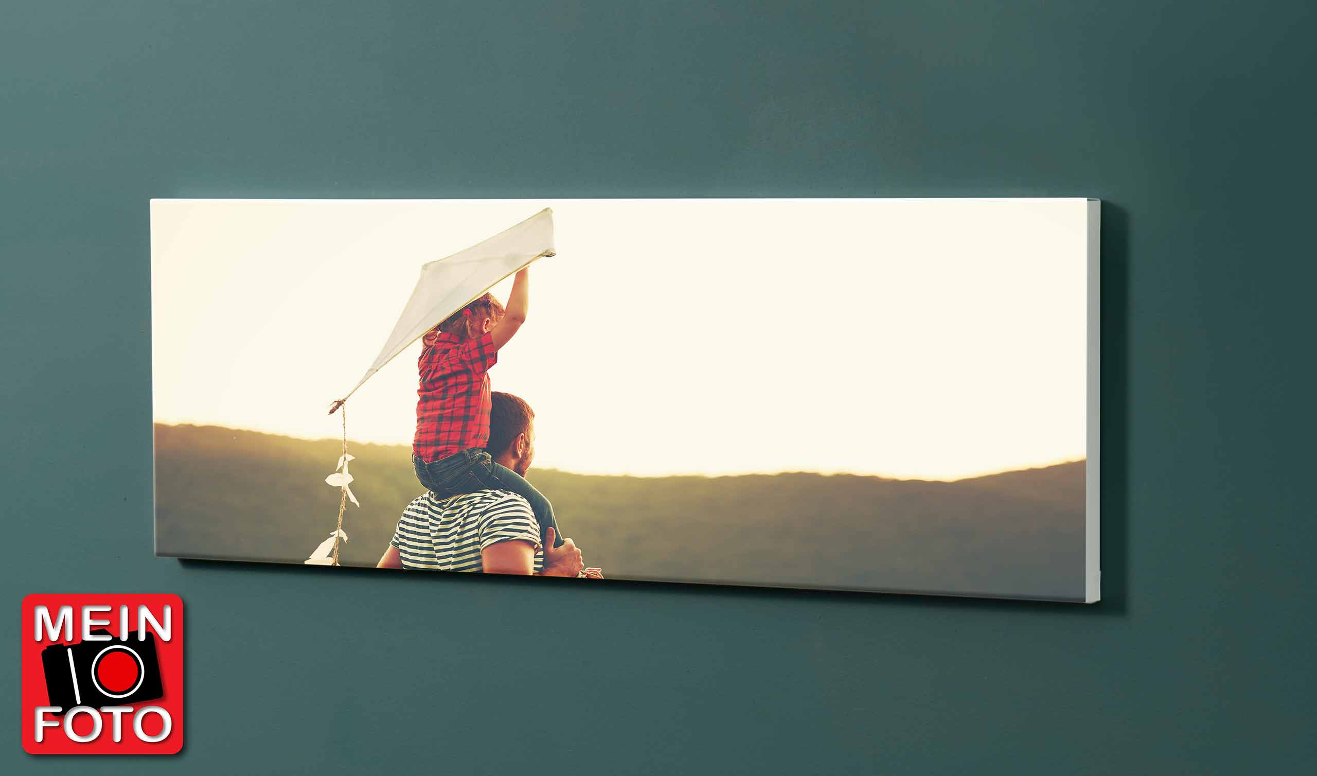 "Magnettafel NOTIZ 90x30cm Motiv-Pinnwand ""Mein Foto"""