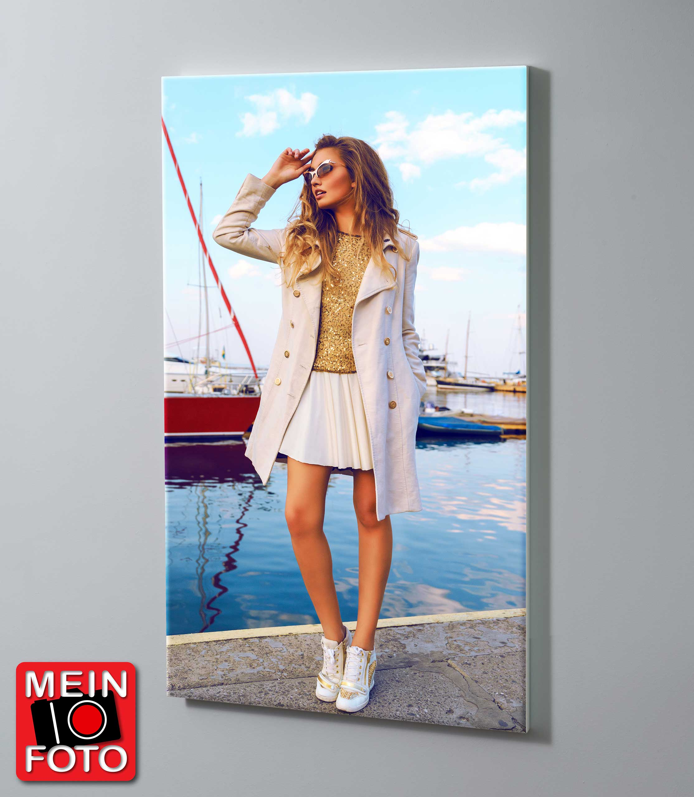 "Magnettafel SASSNITZ 90x60cm Motiv-Pinnwand ""Mein Foto"""