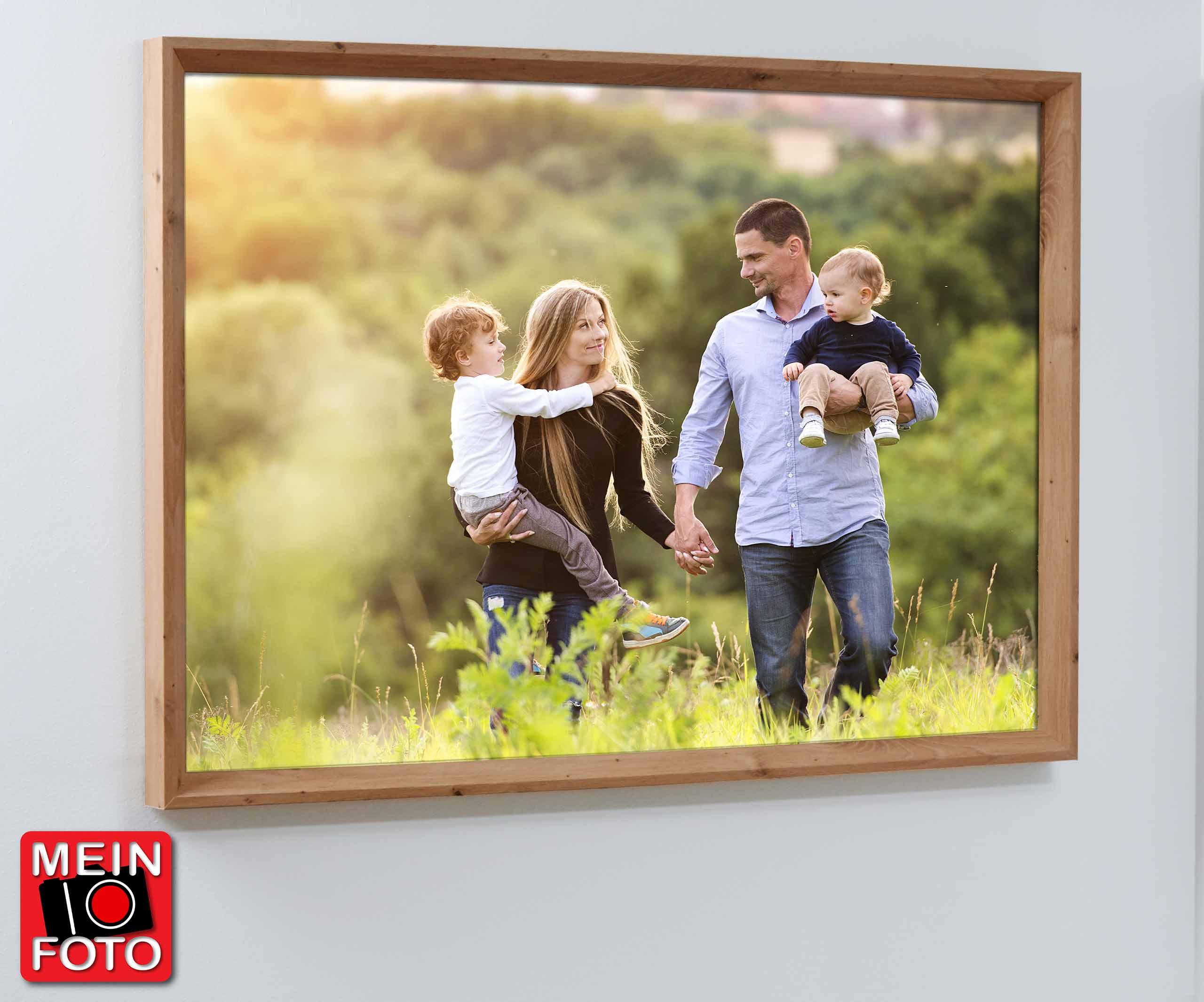"""Wandbild SIMPLY OAK 100x70cm Bilderrahmen Eiche Motiv """"Mein Foto"""""""