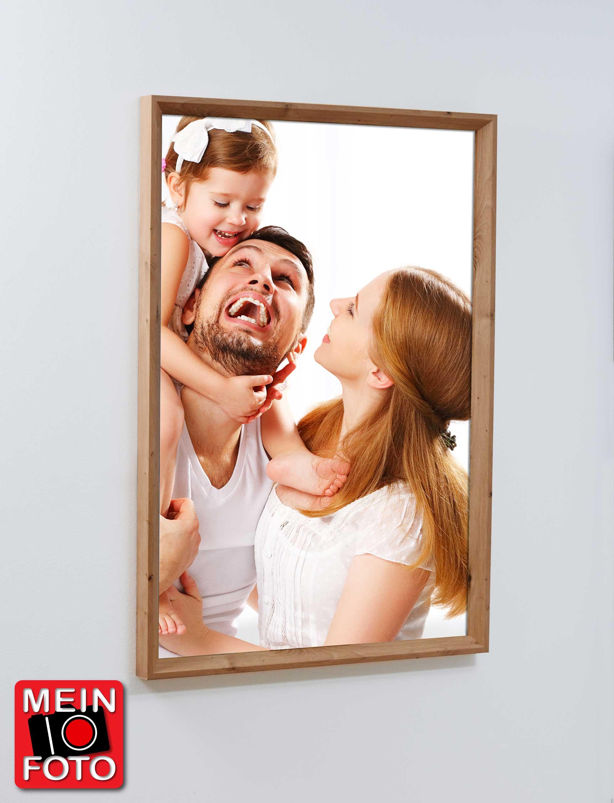 """Wandbild SIMPLY OAK 70x100cm Bilderrahmen Eiche Motiv """"Mein Foto"""""""