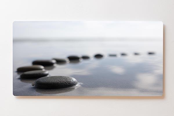 Magnettafel BACKLIGHT 120x60cm Motiv-Wandbild M01 Steine See