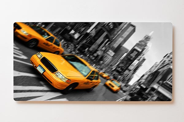 Magnettafel BACKLIGHT 120x60cm Motiv-Wandbild M02 New York Taxi